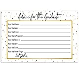 Graduation Party Advice Cards For The Graduate - Set of 25 (Gold and Black)