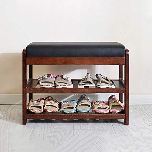 LUYS Cambio de Puerta de Entrada Banco de Zapatos Zapatero de Doble Capa Taburete de Zapatos Taburete de Almacenamiento Estructura de Taburete Sofá Taburete Gabinete de Zapatos Usar u