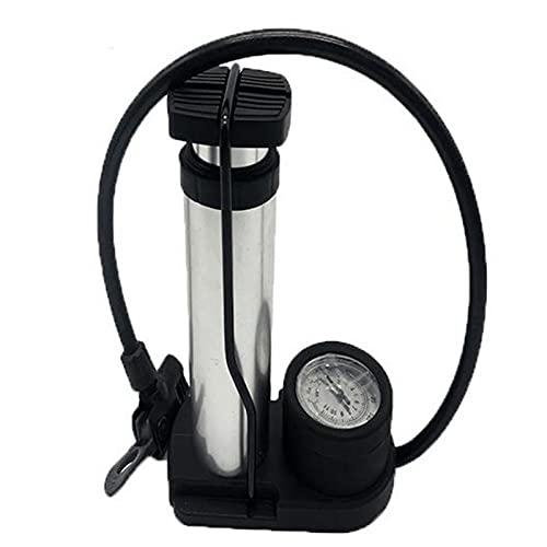 SBNM Bomba portátil, luz y Ninguna Carga, más Conveniente para Llevar, con Almohadillas Antideslizantes y medidor de presión de Aire, Adecuado para Llevar al Conducir