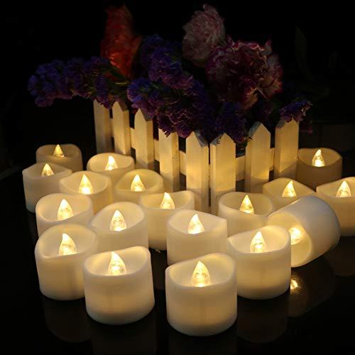 Bougies chauffe-plat LED à piles sans flamme vacillante pour la maison, les fêtes, les mariages, les décorations de Noël
