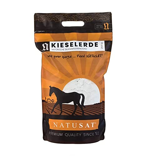 Natusat Kieselerde Pulver 2,5kg   Pferdefell   Fellwechsel   Für Pferde   Hunde   Katzen   Hasen