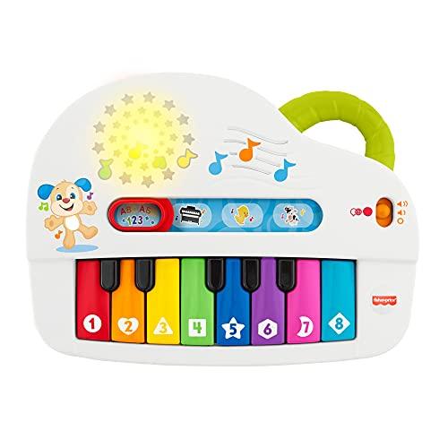 フィッシャープライス バイリンガル・わくわくピアノ 6カ月~36カ月 赤ちゃん 幼児 子ども 幼児 おもちゃ 楽器玩具 ピアノ 鍵盤楽器 知育玩具 知育 学習 英語 外国語 指遊び GKV22