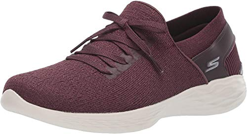 Skechers You- Emotion Sneaker, Burgundy, 7.5 M US