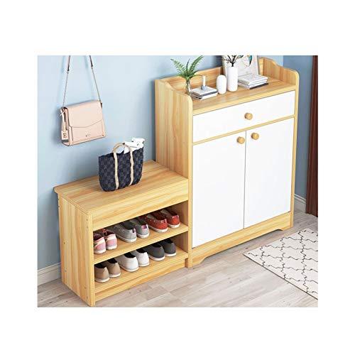 LYLY Scarpiera Nordic Multifunzione Scarpe da Scarpe da Scarpe con 2 Ante Home Balcone Soggiorno Foyer Cabinet Armadio Armadio Ripiano per Scarpe (Color : Natural)