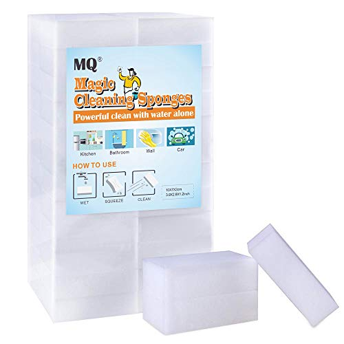 (20/50/100 Count) MQ Extra Thick Magic Cleaning Eraser Melamine Foam Sponges Clean For All Surfaces Kitchen, Bathroom, Floor, Baseboard, Wall, Furniture, Leather, Car, Steel (20)
