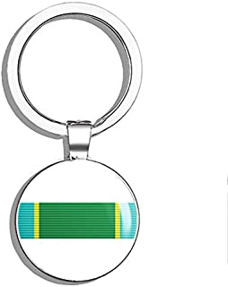 PRS Vinyl USAF AIR Force Marksmanship Ribbon (Marksman Expert) Double Sided Stainless Steel Keychain Key Ring Chain Holder Car/Key Finder