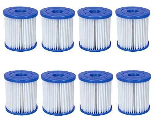 Bestway Filter für Pool Pumpen/Gr. 1-8 Stück