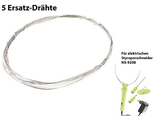 AGT Zubehör zu Heizdraht: Ersatz-Draht für Styroporschneider ES-300, 100 cm (Ersatzdraht für Styroporschneider)