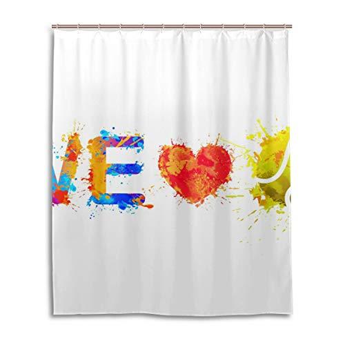 JSTEL Decor We Love Tennis Rideau de Douche 100% Polyester Motif imprimé 152 x 183 cm
