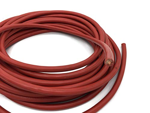 eXODA Batteriekabel 35 mm² 10m Kupferkabel Rot H07V-K35 am Stück