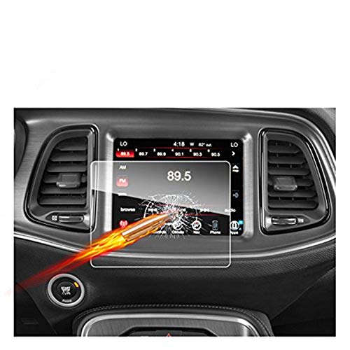 2011-2018 2019 2020 Dodge Charger Uconnect Touch Screen Car Display Navigation Screen Protector, RUIYA HD Clear TEMPERED GLASS Car In-Dash Screen Protective Film (8.4-Inch)