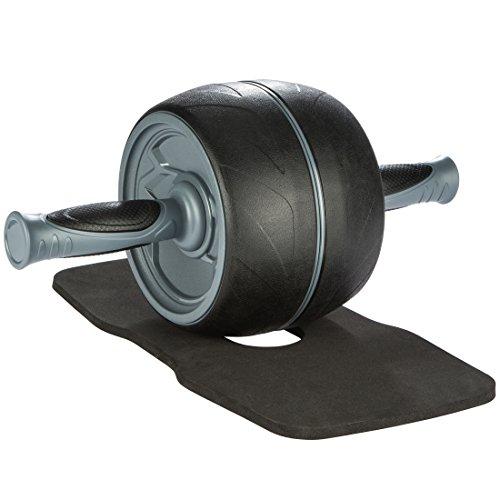 Ultrasport Premium Bauchtrainer AB, Bauchmuskeltrainer für Zuhause, zum Trainieren von Bauchmuskeln, Rücken & Schultern, Oberkörper-Roller mit gummierten Handgriffen, praktisches Sportgerät, schwarz