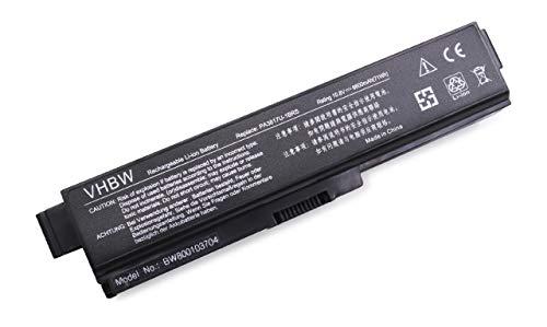 vhbw Batterie LI-ION 6600mAh 10.8V en Noir pour Toshiba Satellite L745-S4210, L745-S4235, L745-S4302 etc, remplace PA3817U-1BAS, PA3817U-1BRS