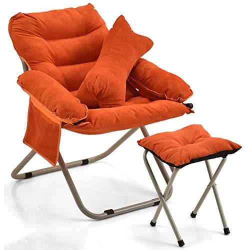 DALL Chaise Pliante pour Canapé Chaises Inclinables Jardin Extérieur Patio De Camping Chaise Longue Multifonctionnel Stable Durable Armature en Métal (Color : Orange)