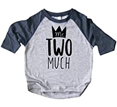 Boys 2nd Birthday Mr Two Much Crown Birthday Shirt Picture Perfect Outfit