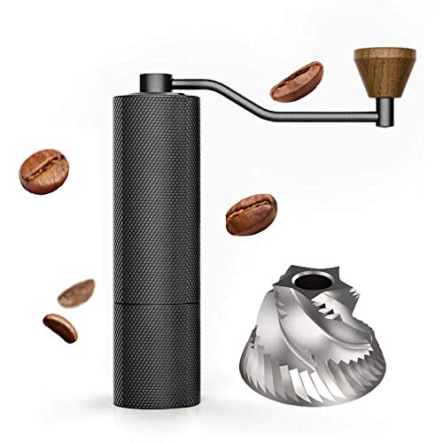 TIMEMORE タイムモア SLIM Plus 手挽きコーヒーミル 全金属製 ステンレス 特許臼E&B コーヒーグラインダー 手動式 粗さ調節機能 清掃しやすい coffee grinder 省力性 家庭用 (SLIM Plus)