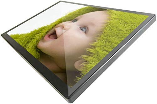 CLQya Digital Frame 19 Zoll ultradünne High-Definition-Bildschirm Digitaler Bilderrahmen 19 Zoll Supermarkt Wand- Werbung Maschine, Designer-Player, elektronisches Album,19 Zoll