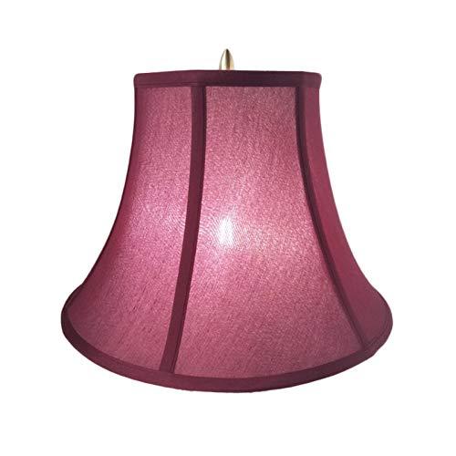 SAC d'épaule Lámpara de Mesa de la Cintura del Estilo Chino, Agujero Superior del Estilo Americano (diámetro 1.05 cm), Vino Rojo Cintura Pantalla,40CM