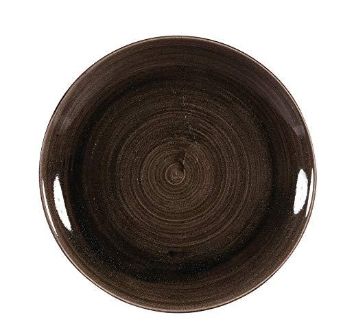 Churchill Stonecast -Coupe Plate Teller- Durchmesser: Ø26,0cm, Farbe wählbar (Iron Black)