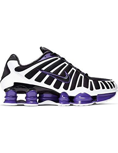 Nike Shox TL, Running Shoe Hombre, Negro/Blanco/Morado Cancha, 41 EU