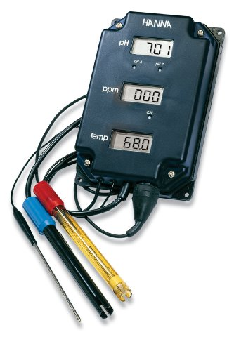 Hanna Instruments HI 981504 pH/TDS/Temperature Monitor, with 3 Backlit Displays