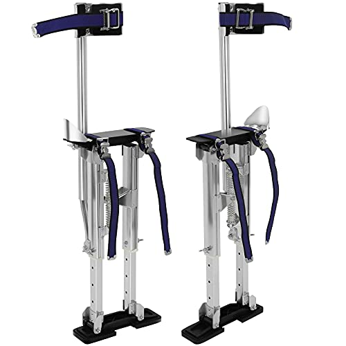 Olenyer 15 to 23 Inches Drywall Stilts Height Adjustable Lifts Aluminum Tool for Painting Finishing Pruning Branches or Cleaning