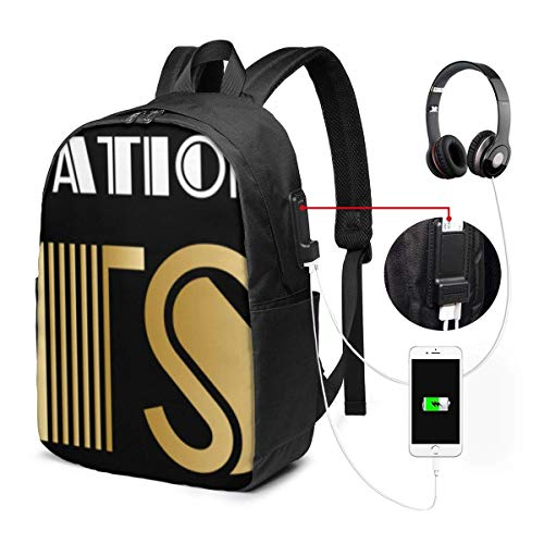 Lawenp The Great Gatsby Logo Backpack Unisex Stretchy Travel LaptopBackpacks with USB Charging Port Sport College School Computer Bookbag for Women Men