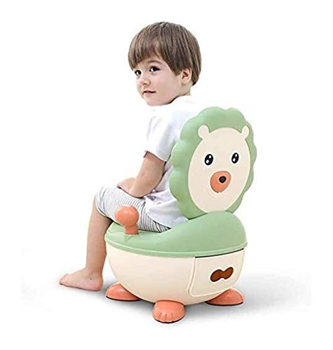 Potty Stuhl, Travel Potty mit Deckel, Pourty Einfach, Mini WC Shaped, Potty Toilet Training UrinalKids Potty, Kind Potty Urinal Trittschemel mit Deckel und Rücken Großes PU weiches Kissen, ergonomisch
