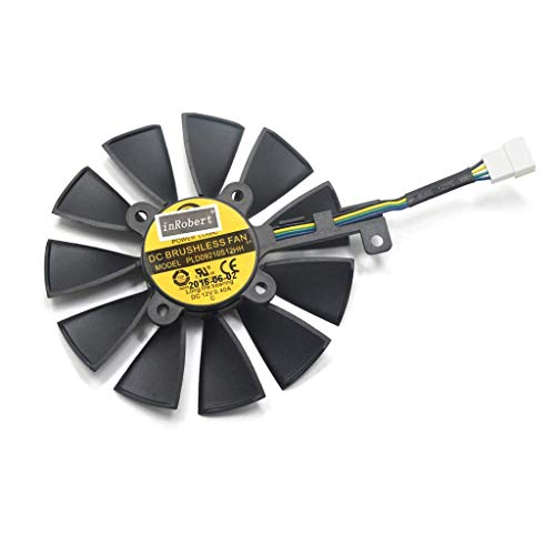 DressU Reduce 87mm Laptop Cooling Fan Replacement for A-SUS Strix GTX 1060 OC 1070 1080 GTX 1080Ti RX 480 Reuse (Color : 4pin)