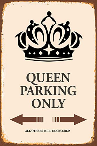 FS Queen Königin Parking only parkschild tin Sign Blechschild Schild gewölbt Metal Sign 20 x 30 cm