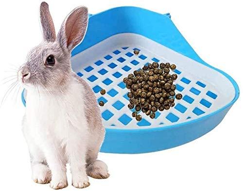 Eeayyygch - Vasino da bagno a triangolo per coniglio, angolo per lettiera per conigli, criceti, colore: blu