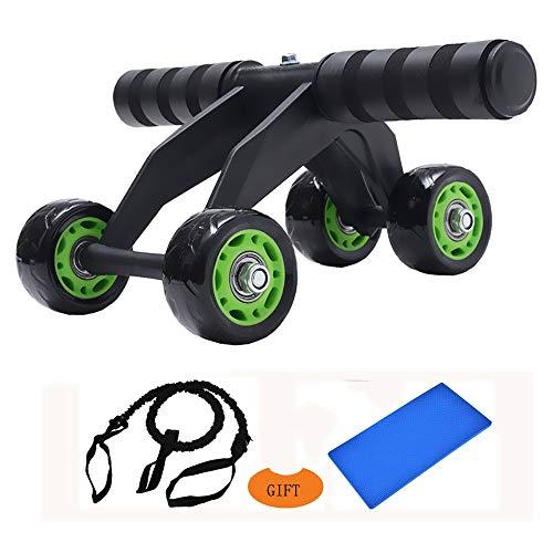 Rueda Abdominales AB Roller Ab Wheel AB Rodillo de Rueda ,Práctico Aparato de Fitness para Entrenar Musculatura y Espalda, Rodillo de Abdominales con Esterilla Para Las Rodillas Unisex Adulto