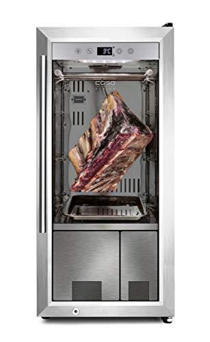 CASO Dry-Aged Cooler - hochwertiger Reifeschrank mit Kompressortechnik, zur Lagerung und Reife von hochwertigem Fleisch, Luftfeuchtigkeit im Inneren einstellbar von 50‐85 %