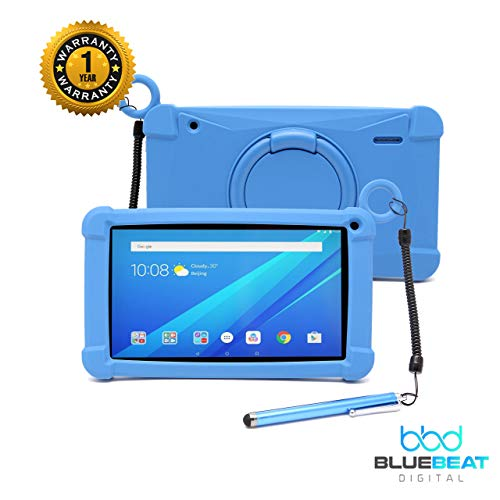 TAB 7G Android 8.1 Oreo Tablet with Quad-Core Processor 7inch IPS HD Display Touchscreen GMS Certified, Max 32GB SD Card Extension Capabilities, Dual Cameras, WiFi Enabled by Blue Beat Digital [Blue]