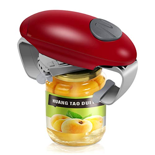 Electric Jar Opener Strong Tough Bottle Opener Automatic Jar Opener With Less Effort to Open for Women Chef Elderly And Arthritis Sufferers