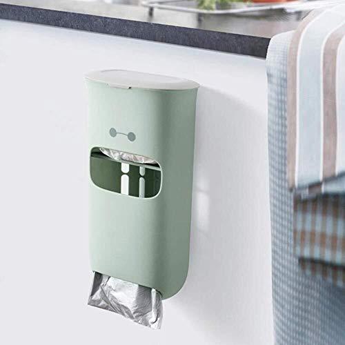 JIAHE115 Automatische vuilnisbak Badkamer Waterdichte Tissue Box Plastic Toiletpapier Houder Wandmontage Opbergdoos Dispenser Vuilniszakken Organisator, Rood Huishoudelijke decoratieve opbergbak