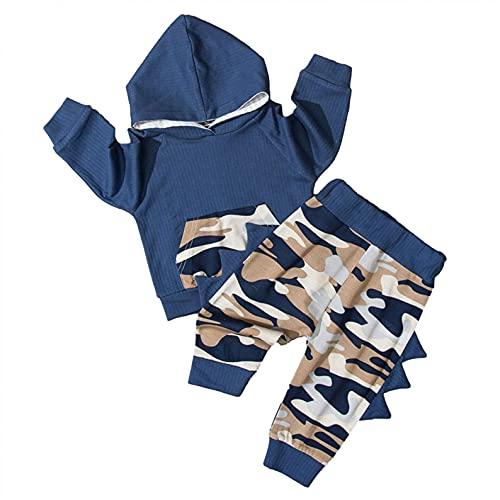 YQSR - Conjunto de ropa para recién nacido, 2 piezas, manga larga, diseño floral