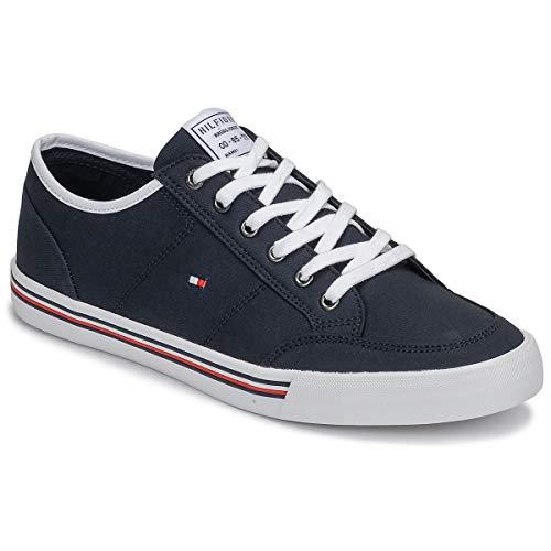 Tommy Hilfiger Core Corporate Textile Sneaker Herren,blau/ marine, 43 EU