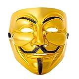 Ultra Dorado Adultos Guy Fawkes Mascara Hacker Anónima Halloween Disfrace Disfraz de Lujo Calidad...