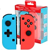 Winkeyes Nintendo Switch Joy-Con Controller Mini Switch Controller Joy Con (L/R) Wireless Pro Game Controller Gamepad Joypad Joystick Compatible with Nintendo Switch, Blue and Red Color