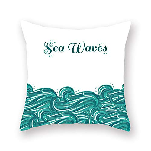 Marine style sea turtle starfish shell octopus printing Pillowcase Cushion Cover Throw Pillow Cover Office Home Decorative Creative Sofa Case Chair Waist Pillow,S