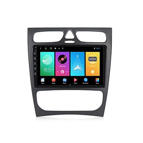 ADMLZQQ Doble DIN Car Stereo GPS System Android 10.0 Pantalla táctil HD para Benz w209 Manos Libres Bluetooth FM Radio Controles del Volante+Cámara Trasera,M150 2+32g