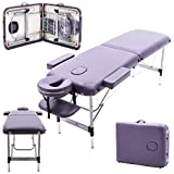 Massage Imperial® Ultra Lightweight Professional Knightsbridge Aluminium 10Kg Purple 2-Section Portable Massage Table