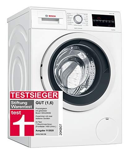 Bosch WAG28400 Serie 6 Waschmaschine Frontlader / C / 62 kWh/100 Waschzyklen / 1400 UpM / 8 kg / Weiß / EcoSilence Drive™ / VarioTrommel