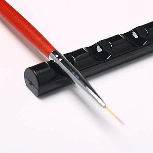 Nail Art Tool Pen Brush Rack Stand 5 Grids Manicure Pen Holder pour Salon Home (noir)
