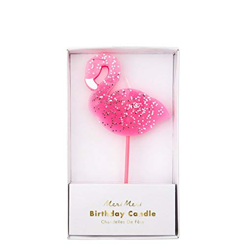 Meri Meri, Large Flamingo Candle, DIY Cake Cupcakes Birthday Party Decorations - Pink