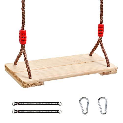 JW-YZWJ Holzschaukel, Indoor- und Outdoor-Schaukel Brett, Kinderspielzeug, Geeignet für Erwachsene und Kinder 220 Lbs / 100Kg