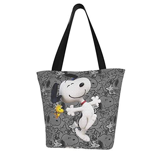 Snoopy Totes Tragetasche - Damen Schulterhandtaschen Große Kapazität Einkaufstasche Canvas Handtaschen Casual Damen für Einkaufen Geldbörse Tragbares Gurtband ist stark und langlebig