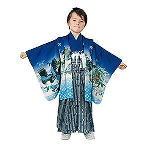 [京都室町st.] 七五三 5歳 男の子 着物 セット R・K「リョウコ・キクチ」ブランド 羽織 袴 フルセット(合繊)RK5-2054ful