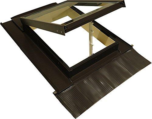 Lucernario per Tetto con Misure Dimensioni cm 45x60 in Legno Alluminio Apertura a Vasistas con Vetro Temperato Antigrandine e di Sicurezza - Guarnizione per Isolamento Classic